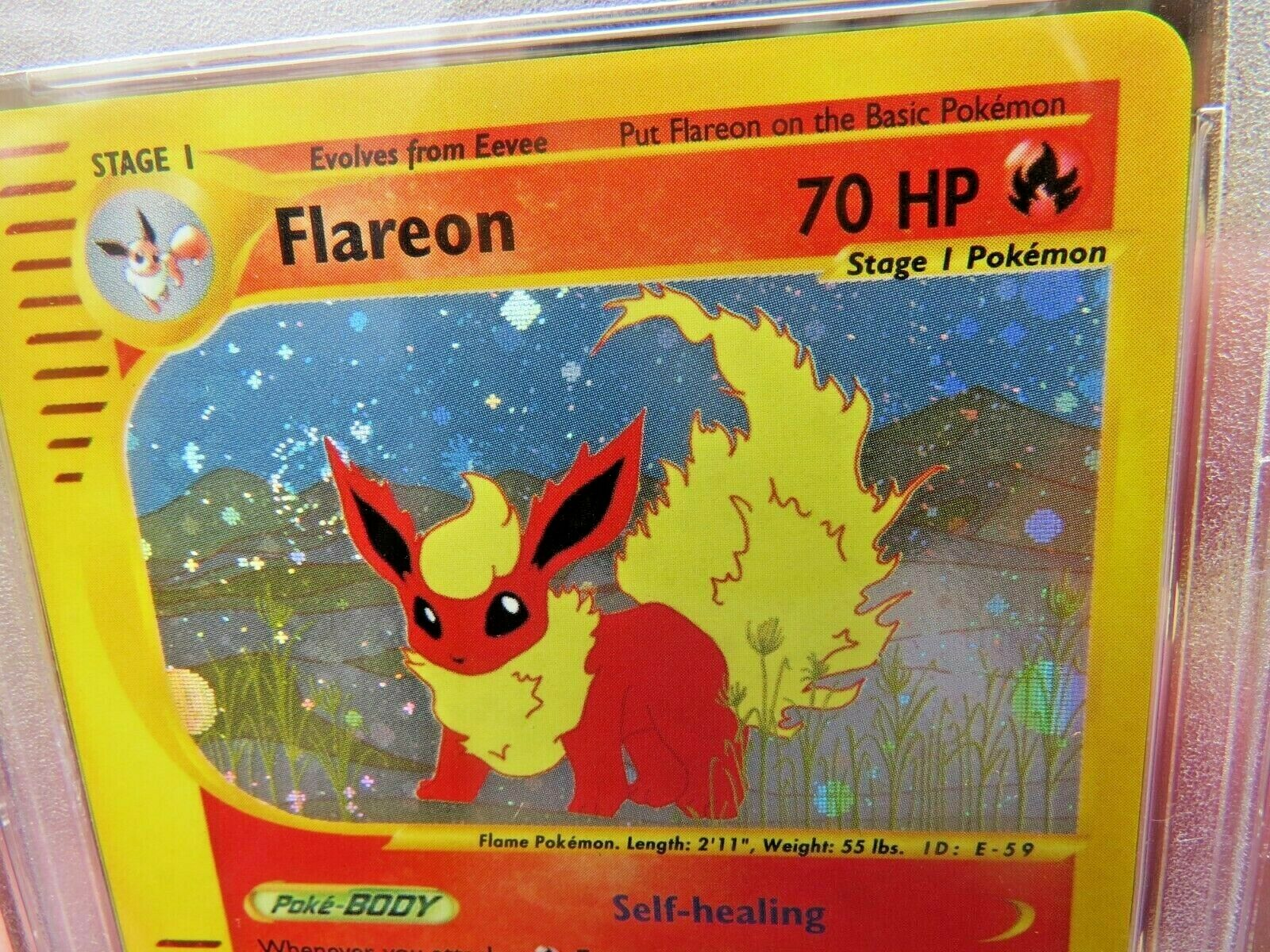 Pokemon Card  Skyridge Holo H7 Flareon PSA 9 Mint
