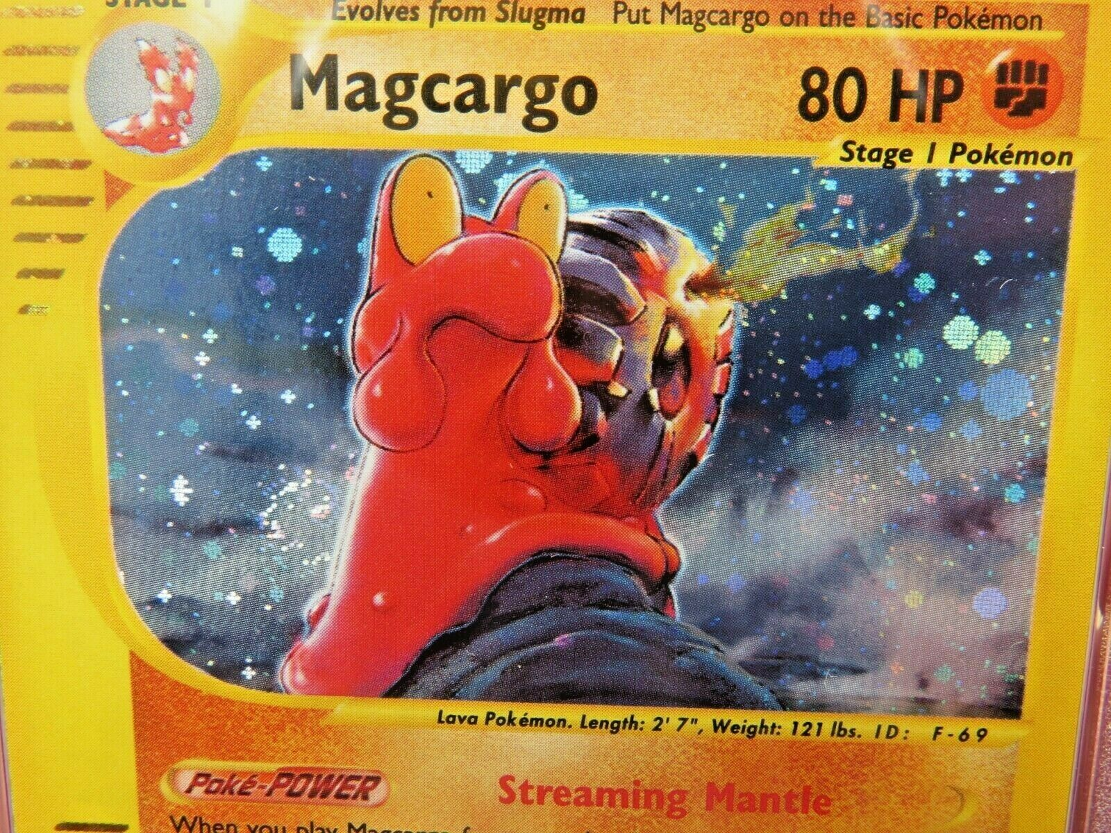 Pokemon Card  Skyridge Holo H17 Magcargo PSA 9 Mint