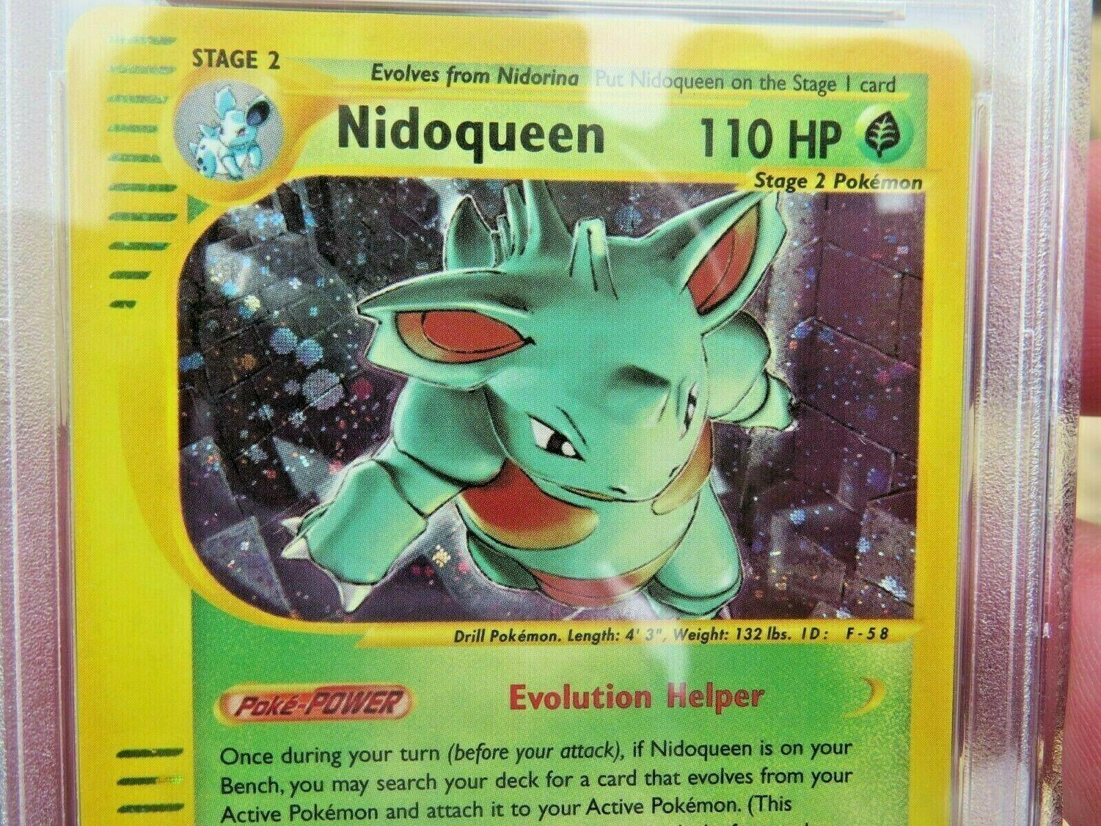 Pokemon Card  Skyridge Holo H21 Nidoqueen PSA 9 Mint