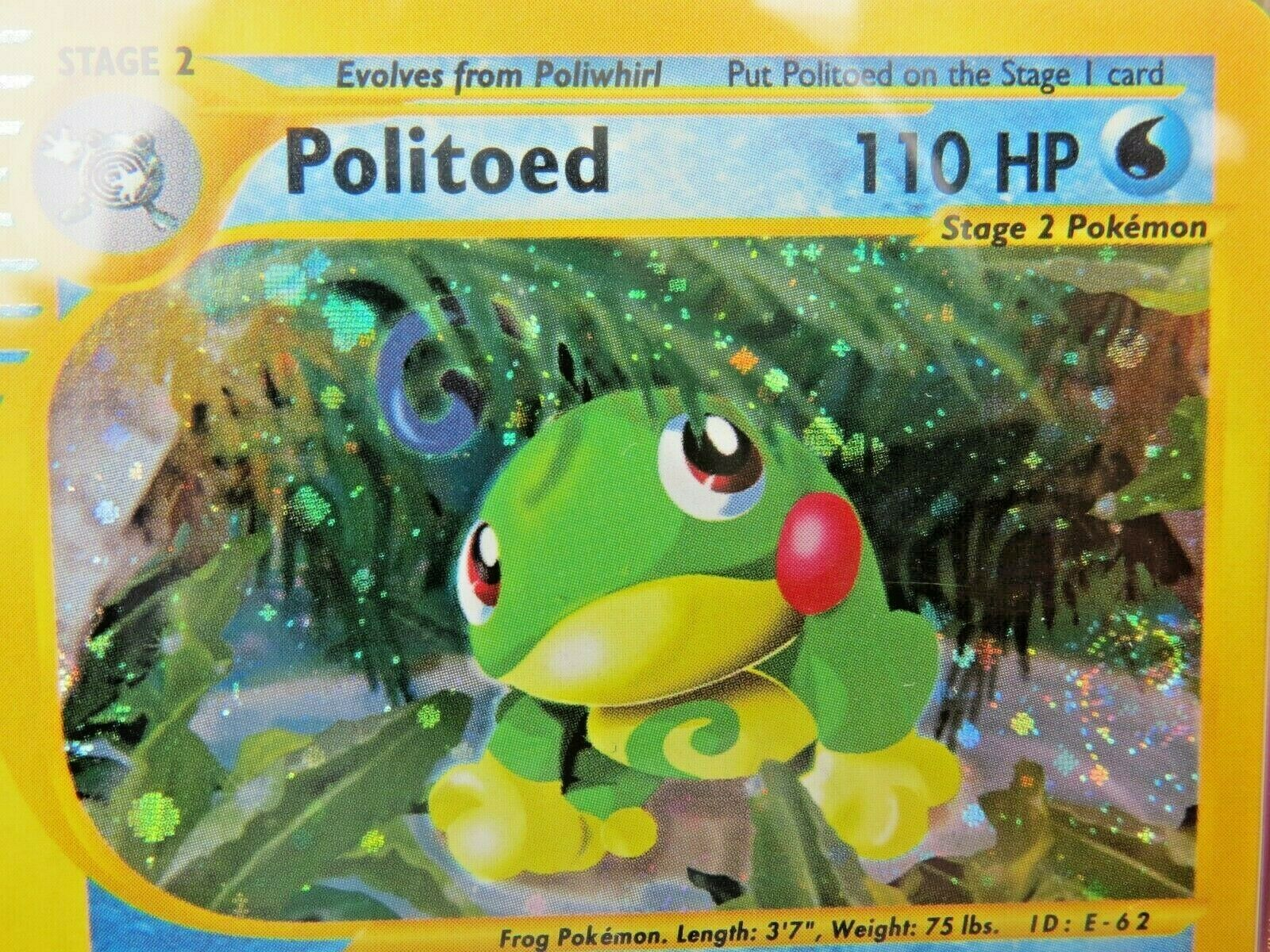 Pokemon Card  Skyridge Holo H23 Politoed PSA 10 Gem Mint