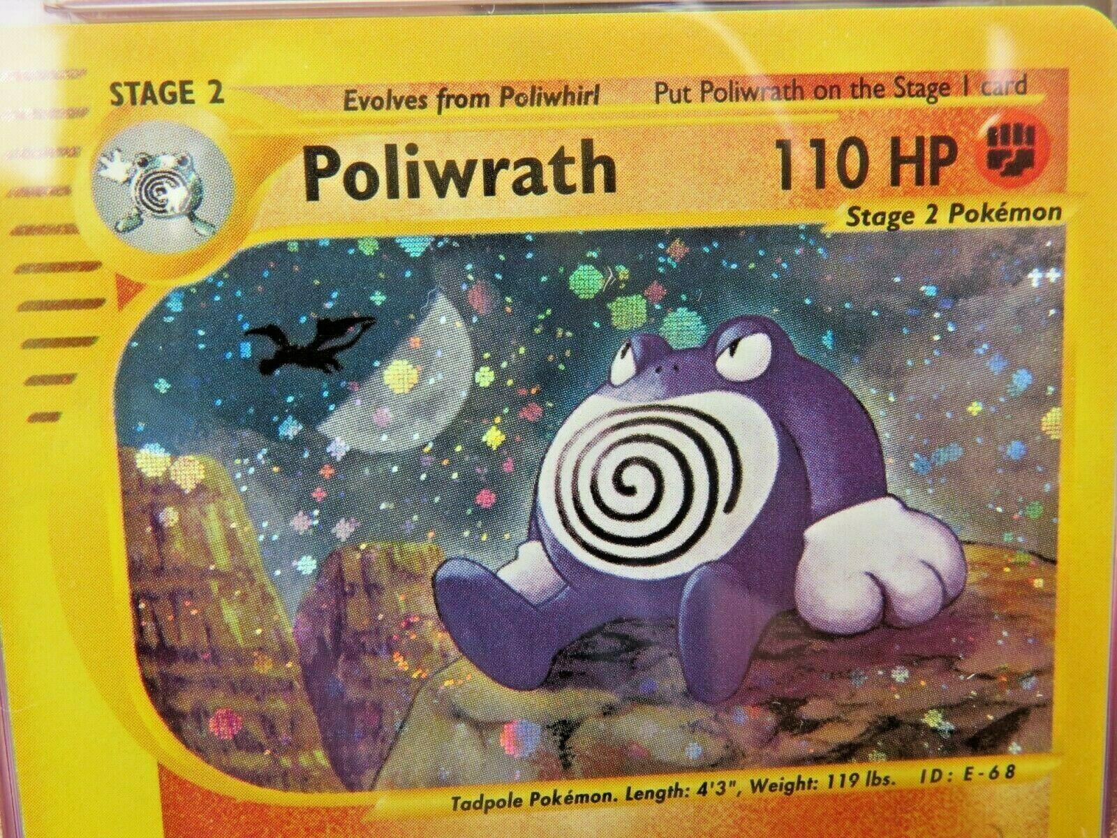 Pokemon Card  Skyridge Holo H24 Poliwrath PSA 10 Gem Mint