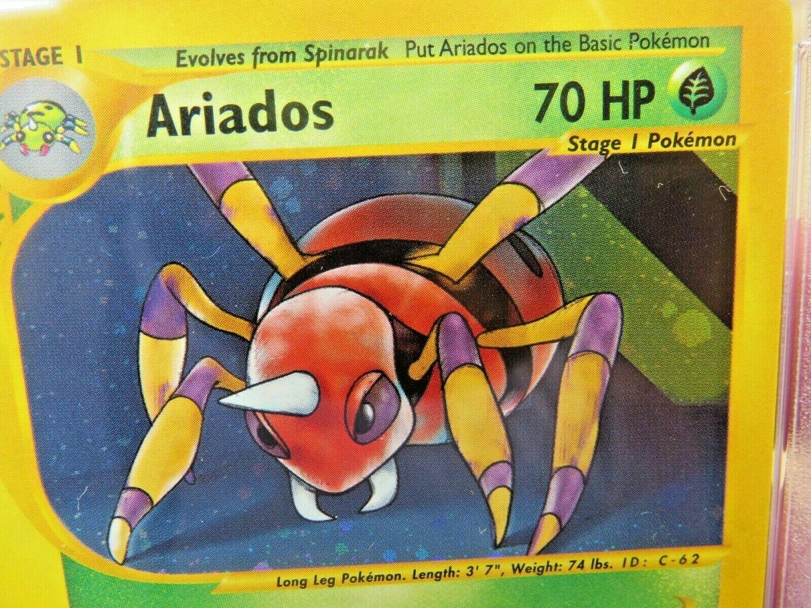 Pokemon Card  Aquapolis Holo H3 Ariados PSA 10 Gem Mint