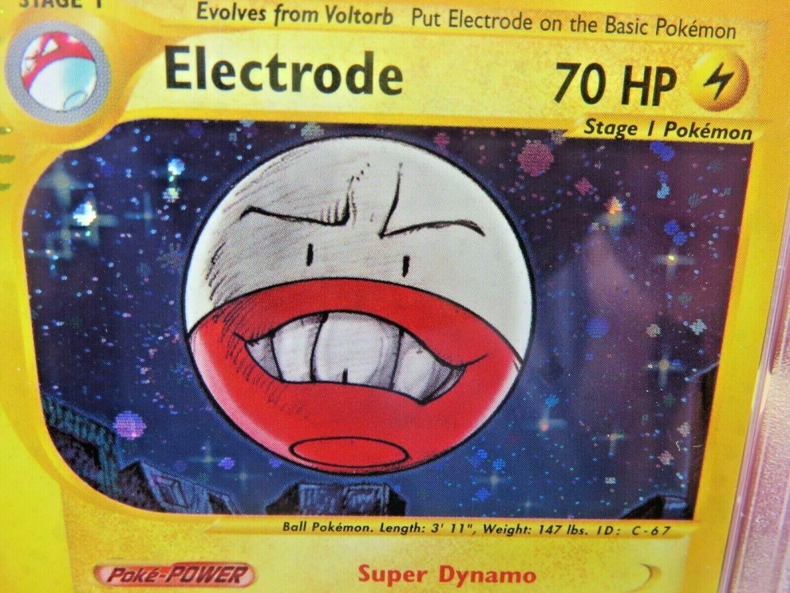 Pokemon Card  Aquapolis Holo H7 Electrode PSA 10 Gem Mint