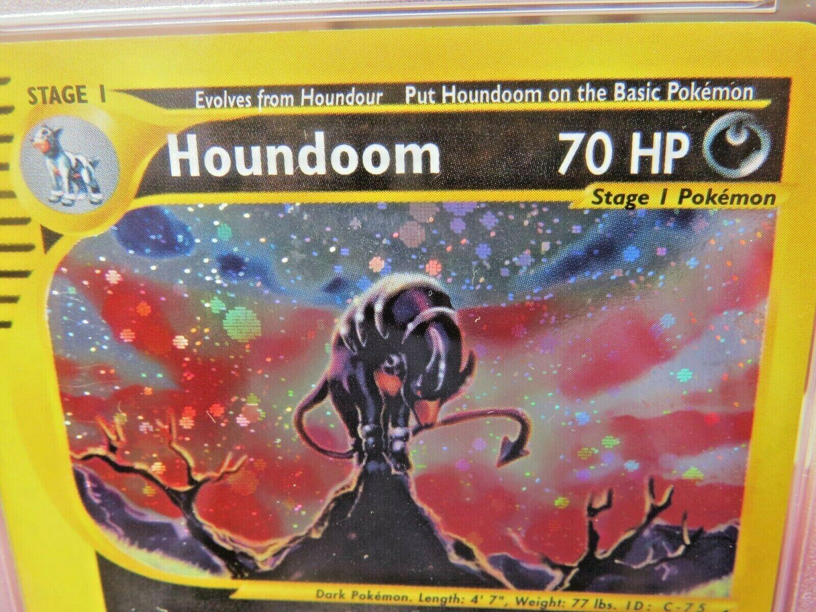 Pokemon Card  Aquapolis Holo H11 Houndoom PSA 9 Mint