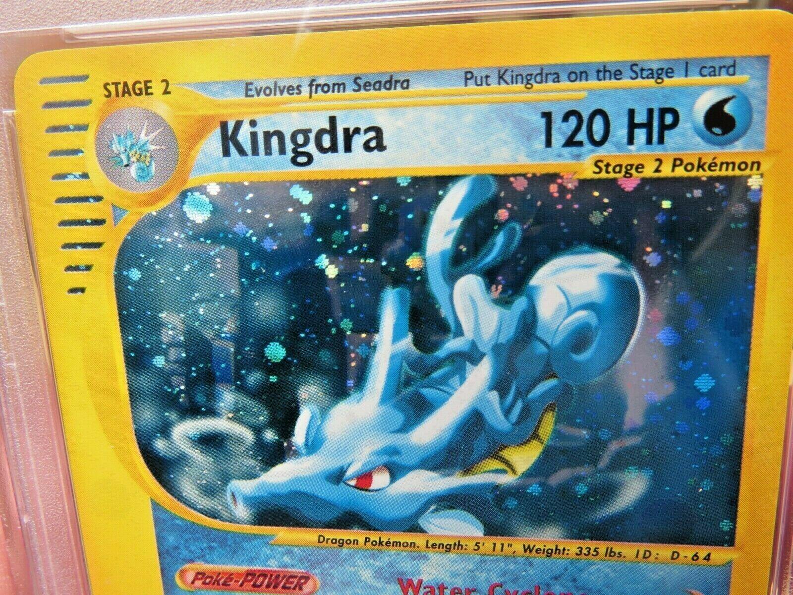 Pokemon Card  Aquapolis Holo H14 Kingdra PSA 9 Mint