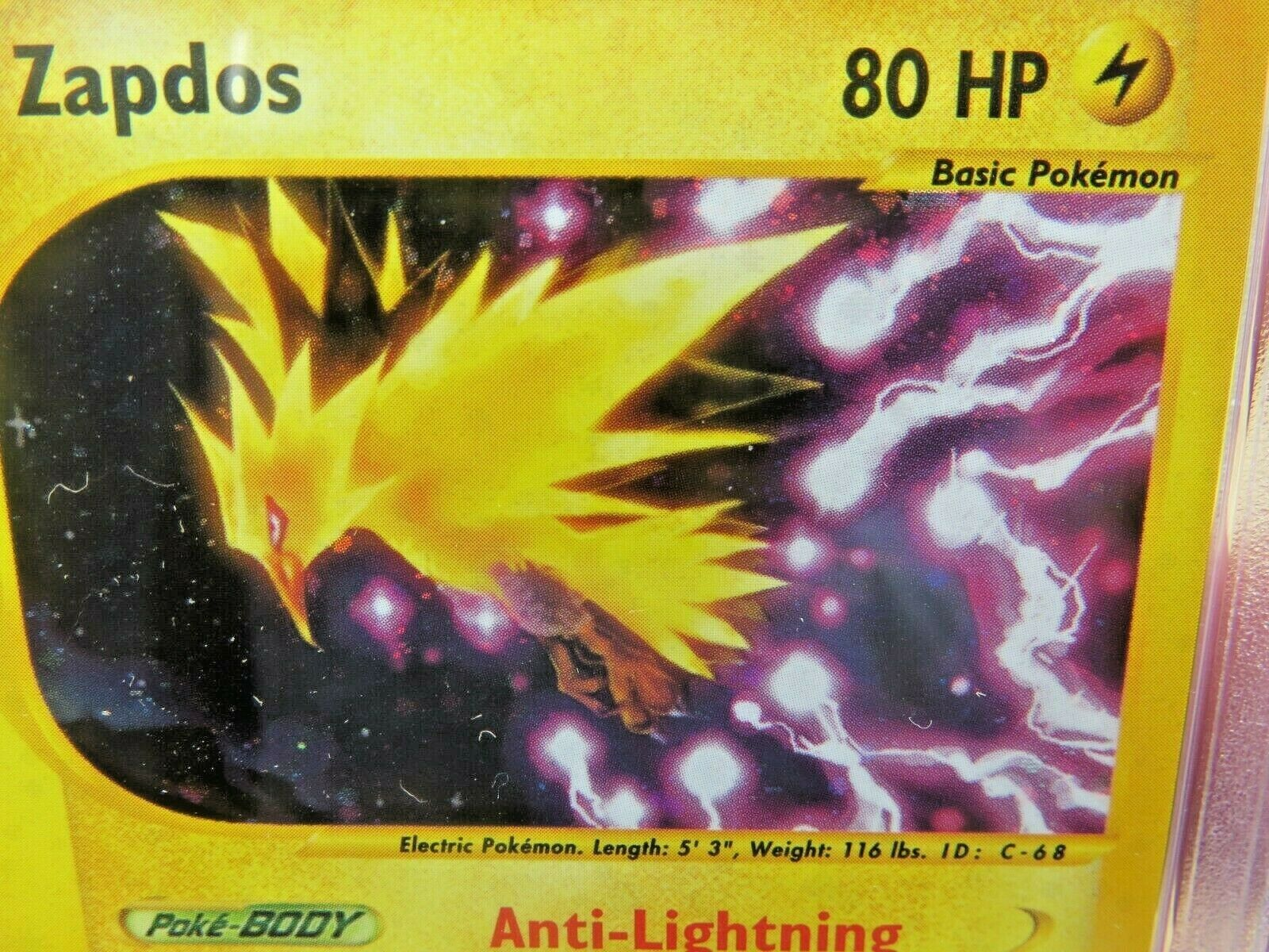 Pokemon Card  Aquapolis Holo H32 Zapdos PSA 10 Gem Mint