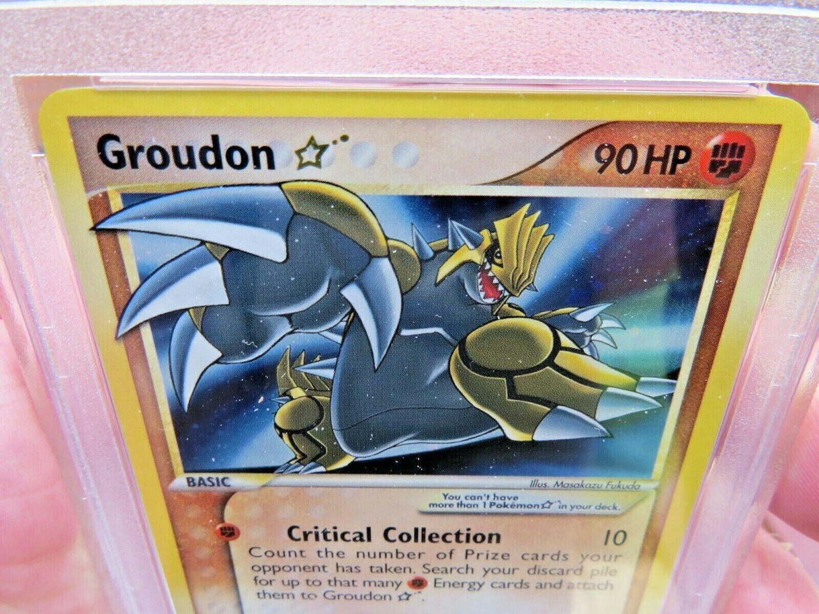 Pokemon Card  Ex Delta Species 111 Groudon Gold Star PSA 9 Mint