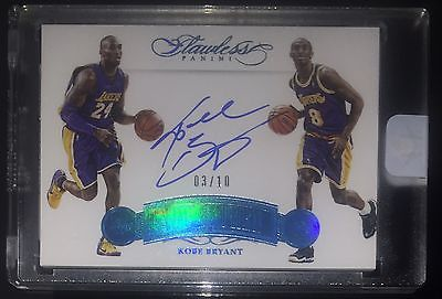 1516 FLAWLESS SAPHIRE NOW AND THEN AUTOGRAPH KOBE BRYANT auto GREAT