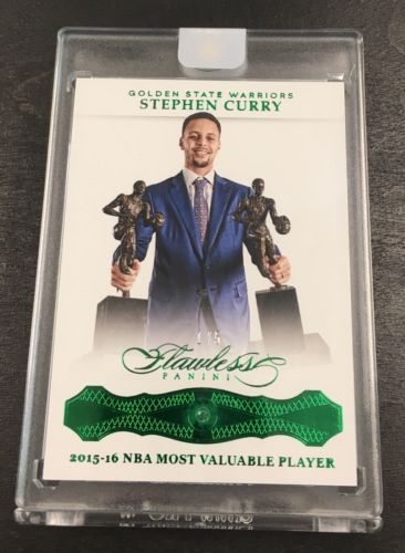 15 MVP 201516 Flawless Basketball STEPHEN CURRY Real Emerald Diamond GEM SSP