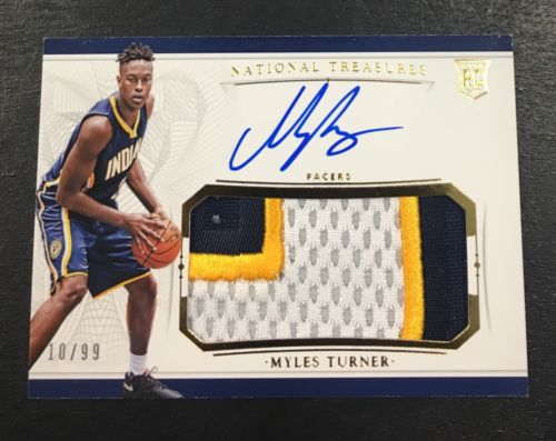 201516 National Treasures MYLES TURNER  True RC RPA Patch Auto Autograph 1099