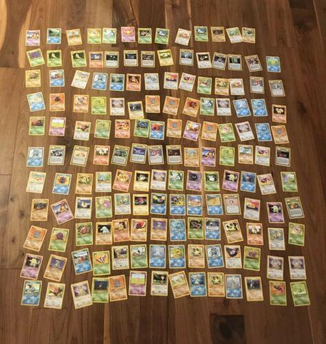 153 1st Generation Pokemon Card Bundle  All Pokemon Monsters  Trainer Cards
