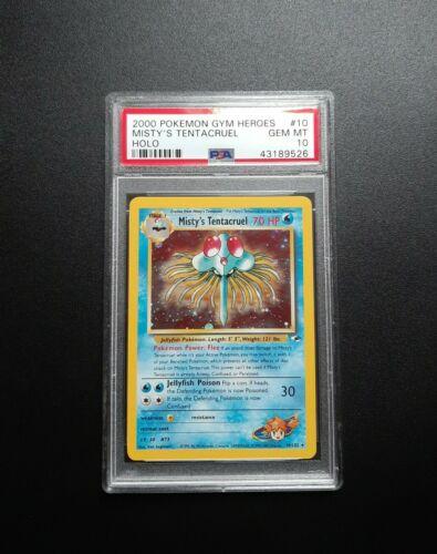 2000 Pokemon Mistys Tentacruel Holo 10132 Gym Heroes PSA Gem Mint 10