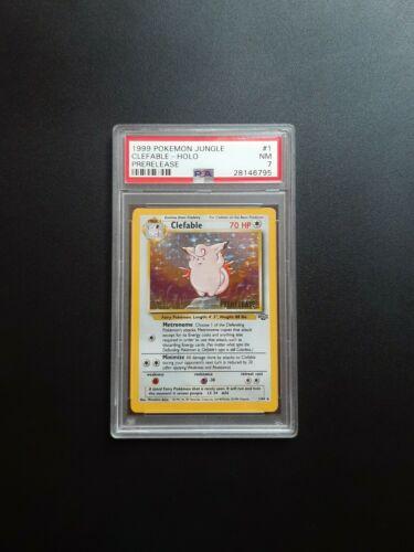 1999 Pokemon Clefable Prerelease Holo 164 Jungle PSA NM 7