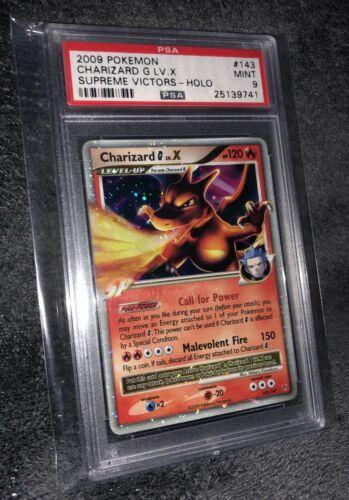 Pokemon Psa 9 Charizard G LV X Holo Graded Card Supreme Victors