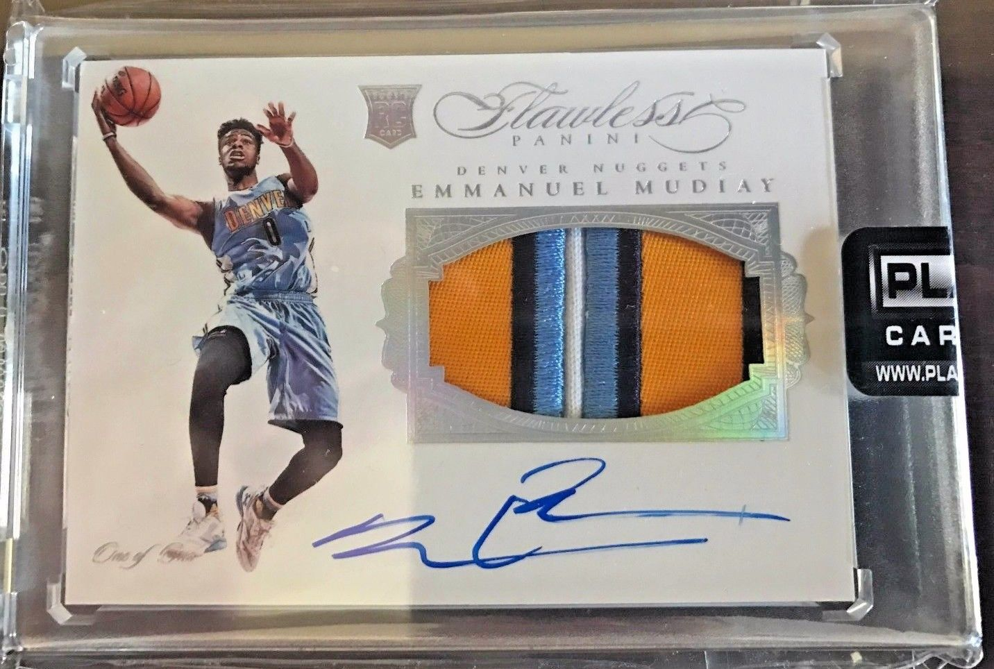 201516 Flawless Emmanuel Mudiay TRUE RPA ONE OF ONE 11 MUST HAVE FIRE CARD