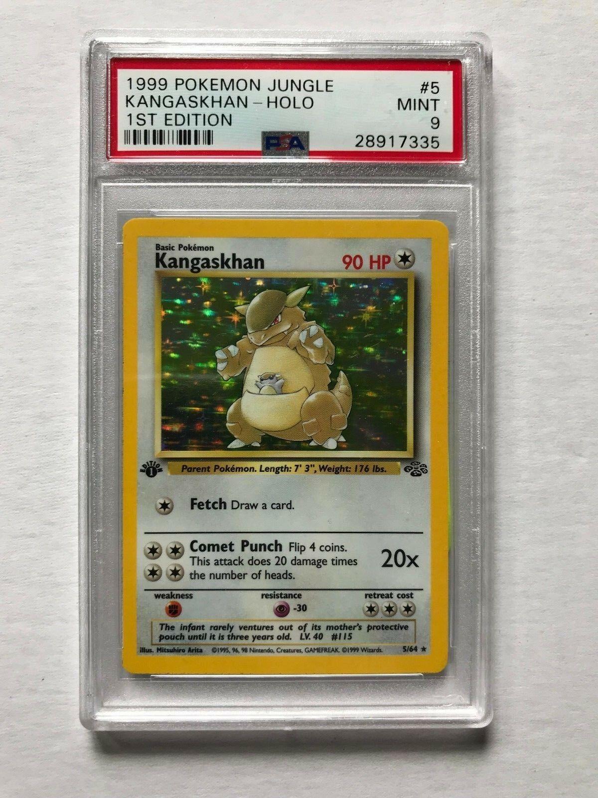 1999 Pokemon Card 1st Edition Kangaskhan Holo Foil Jungle Graded PSA 9 Mint