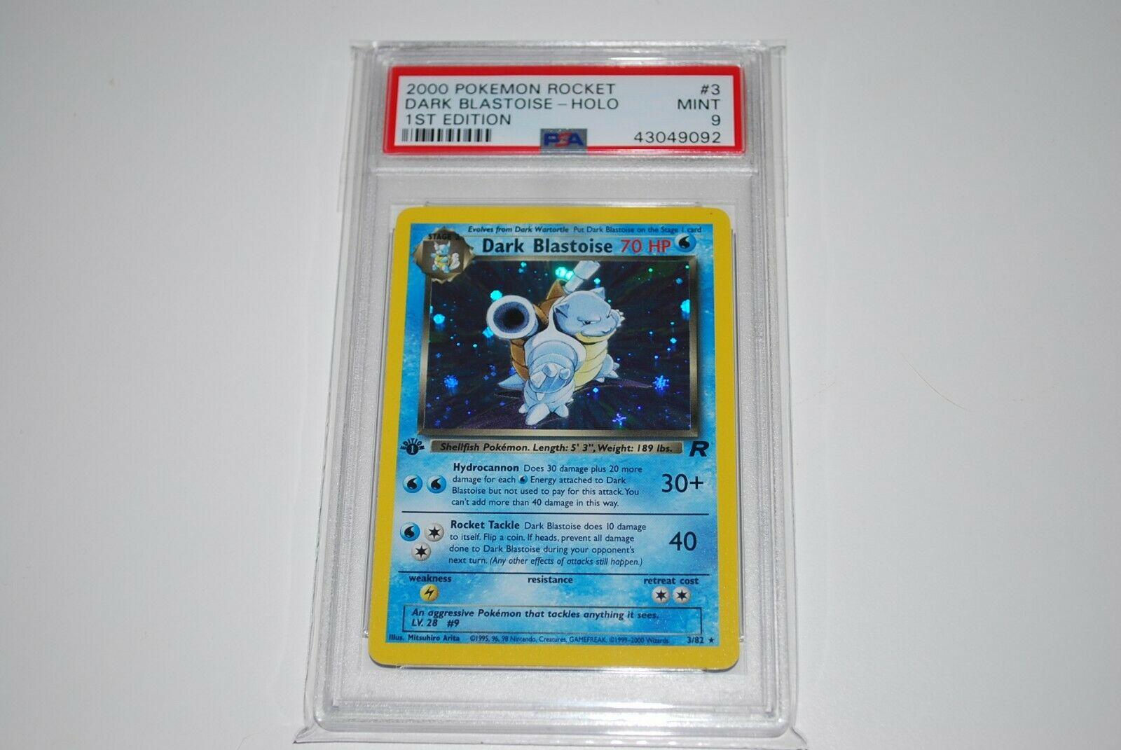 PSA 9 Mint 1st Edition Dark Blastoise Holo 382 Pokemon Card 19992000