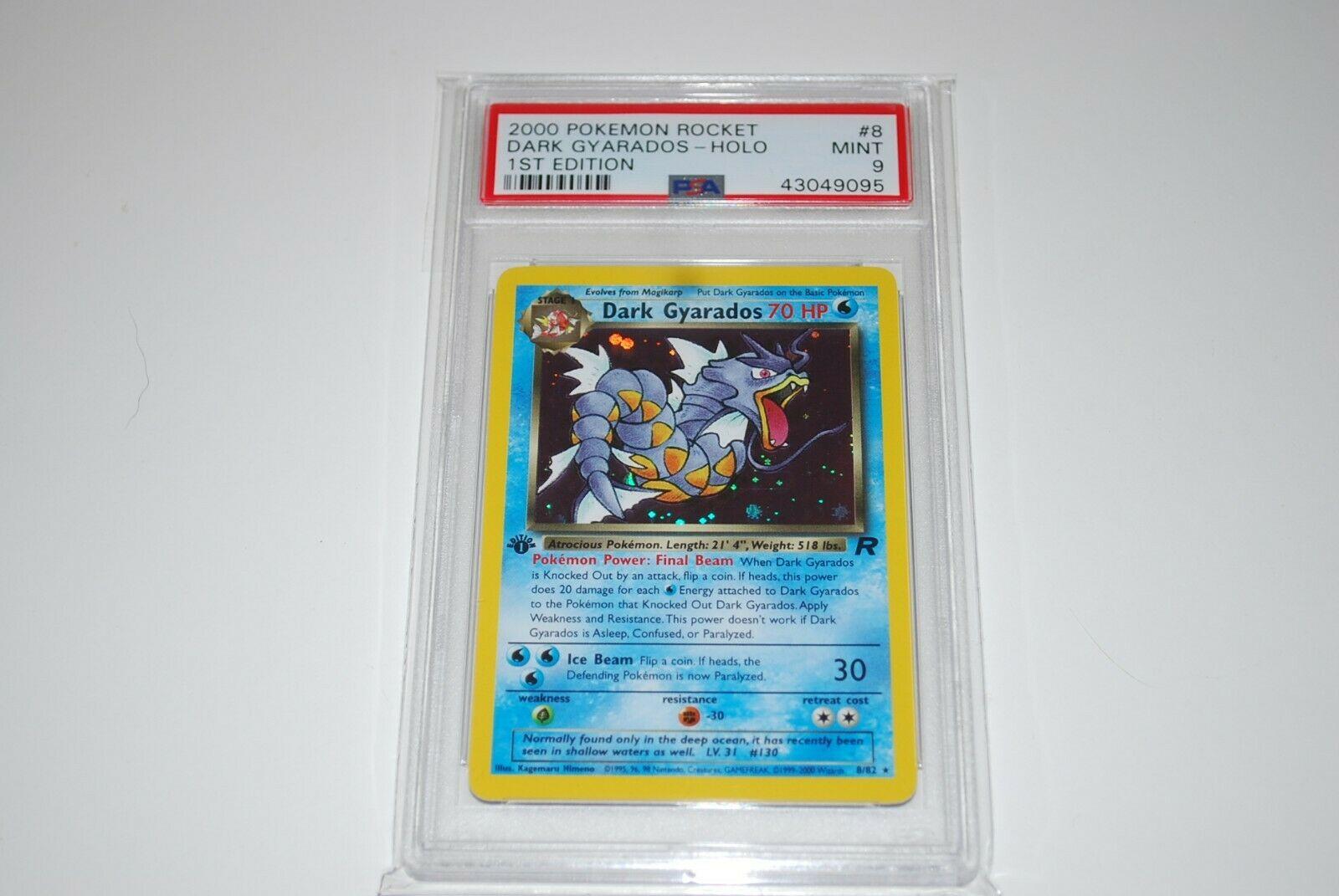 PSA 9 Mint 1st Edition Dark Gyarados Holo 882 Pokemon Card 19992000