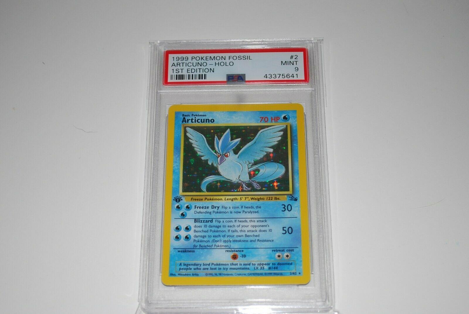 PSA 9 Mint 1st Edition Articuno Holo 262 Fossil Pokemon Card 1999