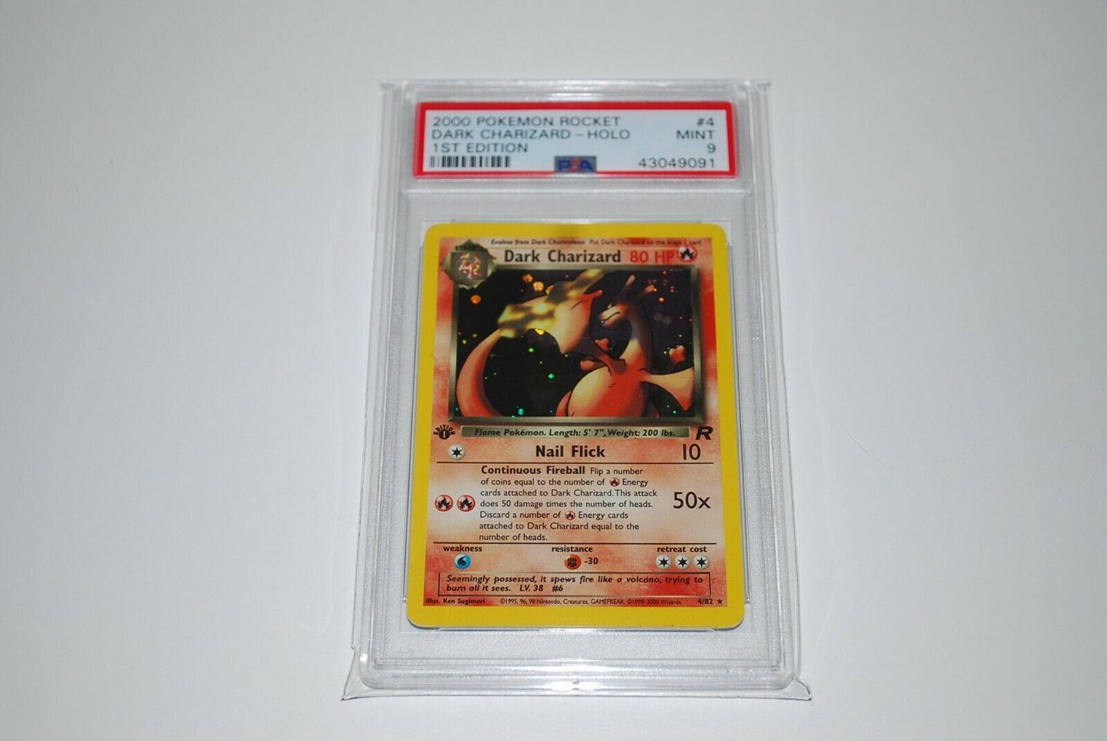 PSA 9 Mint 1st Edition Dark Charizard Holo 482 Pokemon Card 19992000