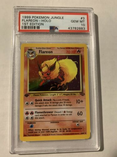 Flareon 1st Edition HOLO Jungle PSA 10 Pokemon Card 364 Rare Gem Mint
