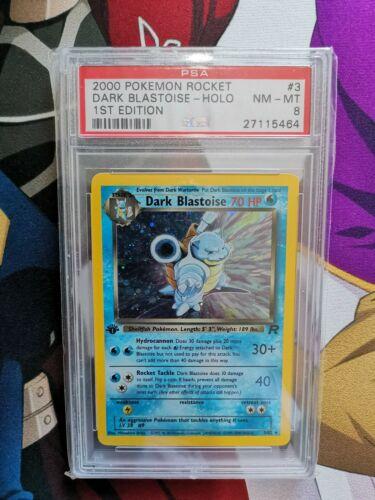 PSA 8 First edition Dark Blastoise Holo 1st  Pokemon Card WOTC Graded 382 Rare