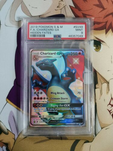 Charizard Ultra Shiny GX Hidden Fates SV49SV94 PSA MINT 9 Pokemon Card Graded
