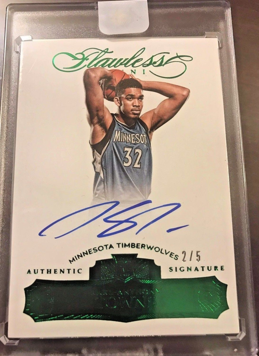 KARL ANTHONY TOWNS EMERALD 201516 FLAWLESS KAT 5 SICK GREEN
