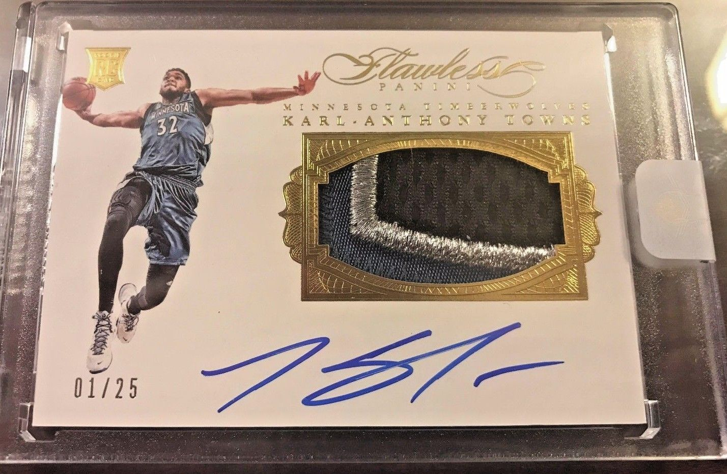 KARL ANTHONY TOWNS  201516 FLAWLESS KAT RPA ROOKIE PATCH AUTO 3 COLOR 125 TRUE