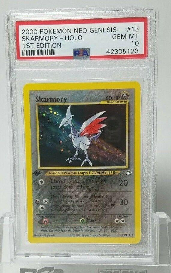 PSA 10 Gem Mint Skarmory 1st Edition 13111 Neo Genesis Holo Pokemon Card