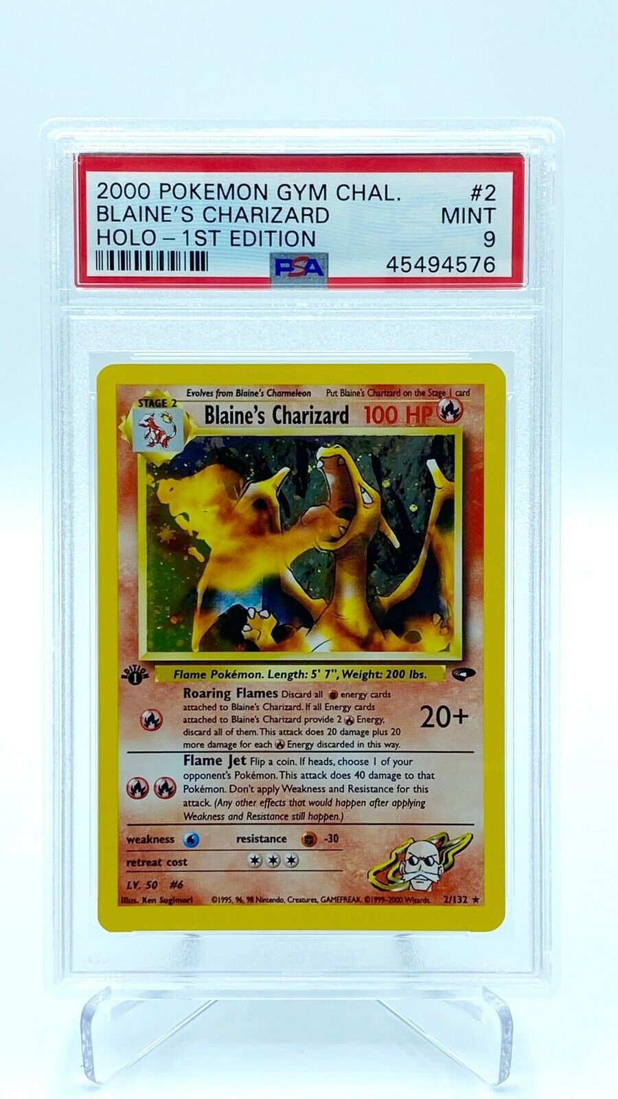 Blaines Charizard 1st Edition PSA 9  Pokemon Card  Gym Challenge STRONG 9