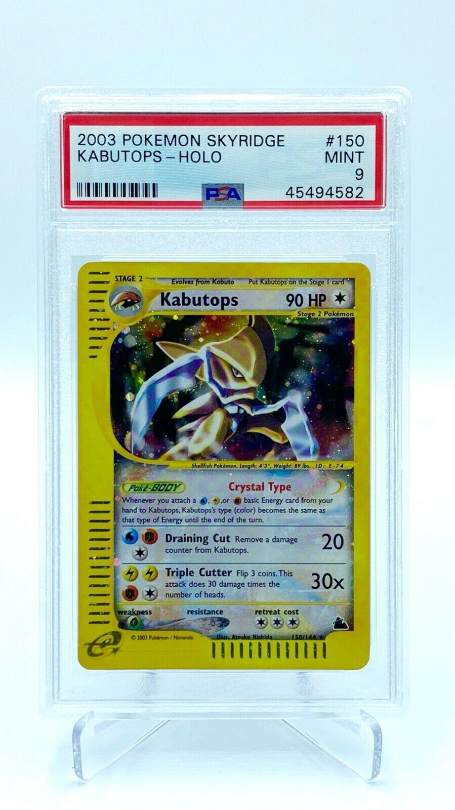 Crystal Kabutops Holo PSA 9  Pokemon Card  Skyridge