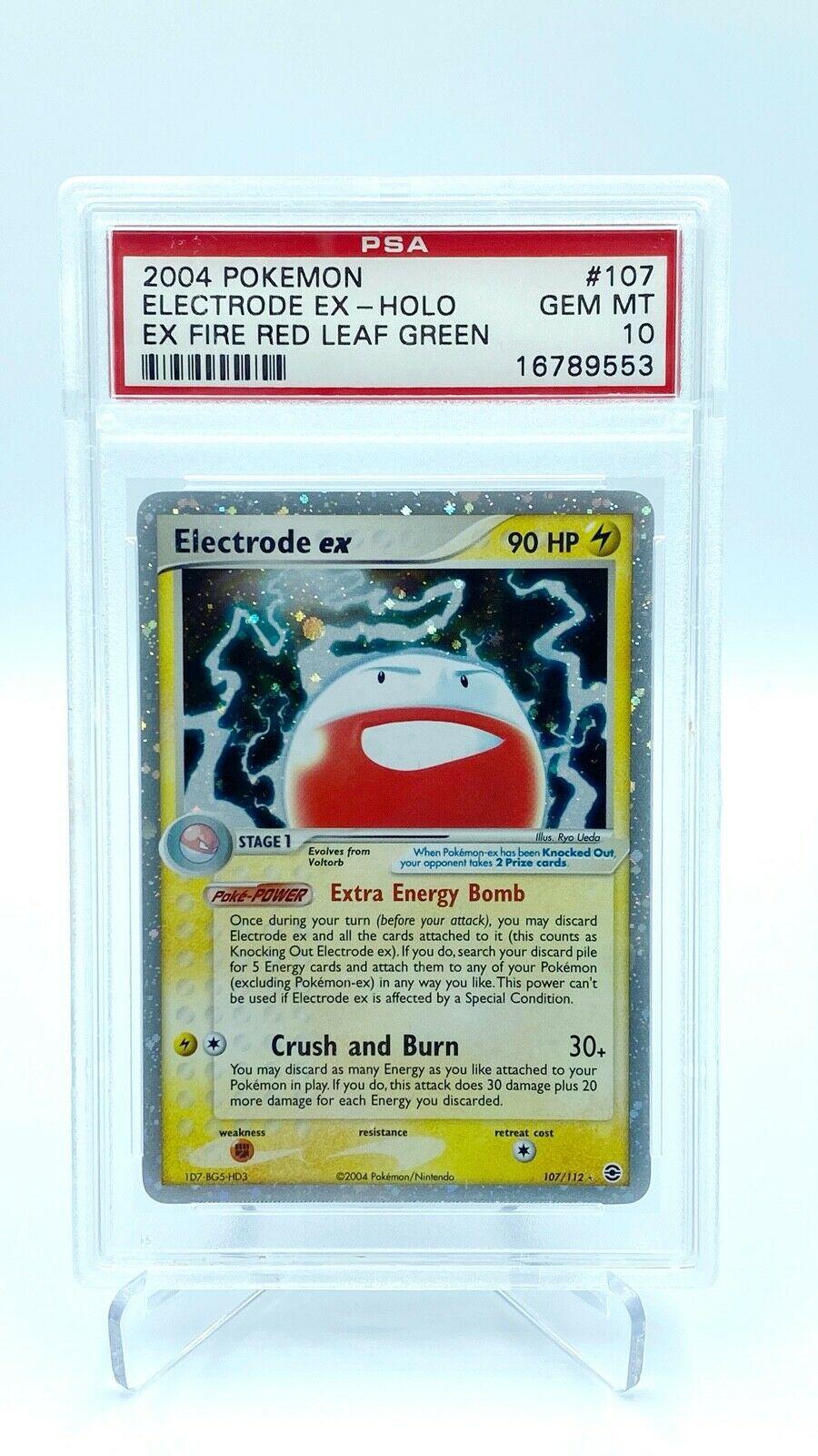 Electrode EX Holo PSA Gem Mint 10  Pokemon Card  EX Fire Red Leaf Green