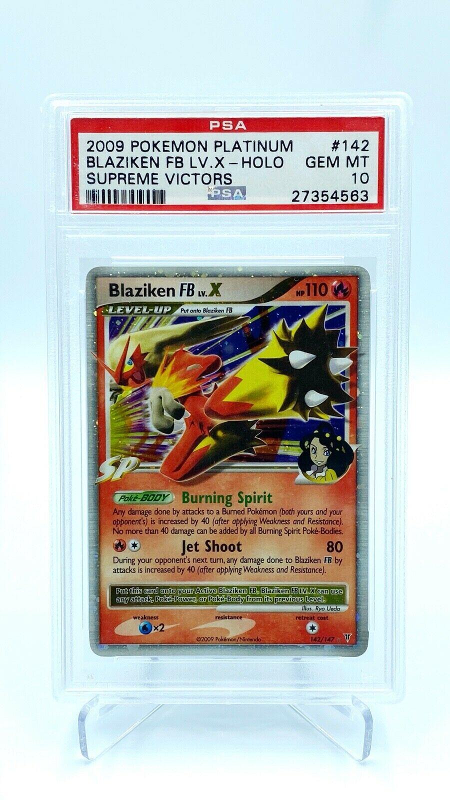 Blaziken LVX Holo PSA Gem Mint 10   Pokemon Card  Supreme Victors
