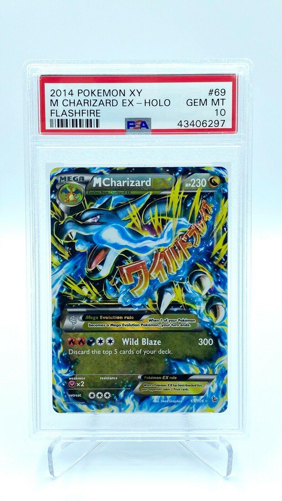 M Charizard EX Holo PSA Gem Mint 10   Pokemon Card  Flashfire