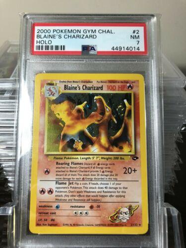 Pokemon Blaines Charizard  Gym Challenge  PSA 7 MINT 2132  Holo  2000