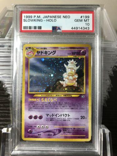 Pokemon Slowking  Japanese Neo  Holo  PSA 10 GEM MINT 199