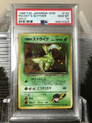 Pokemon Rockets Scyther  Japanese Gym  Holo  PSA 10 GEM MINT
