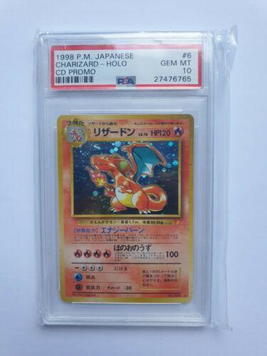 Pokemon PSA 10 CHARIZARD CD Promo 1998 Japanese Holo