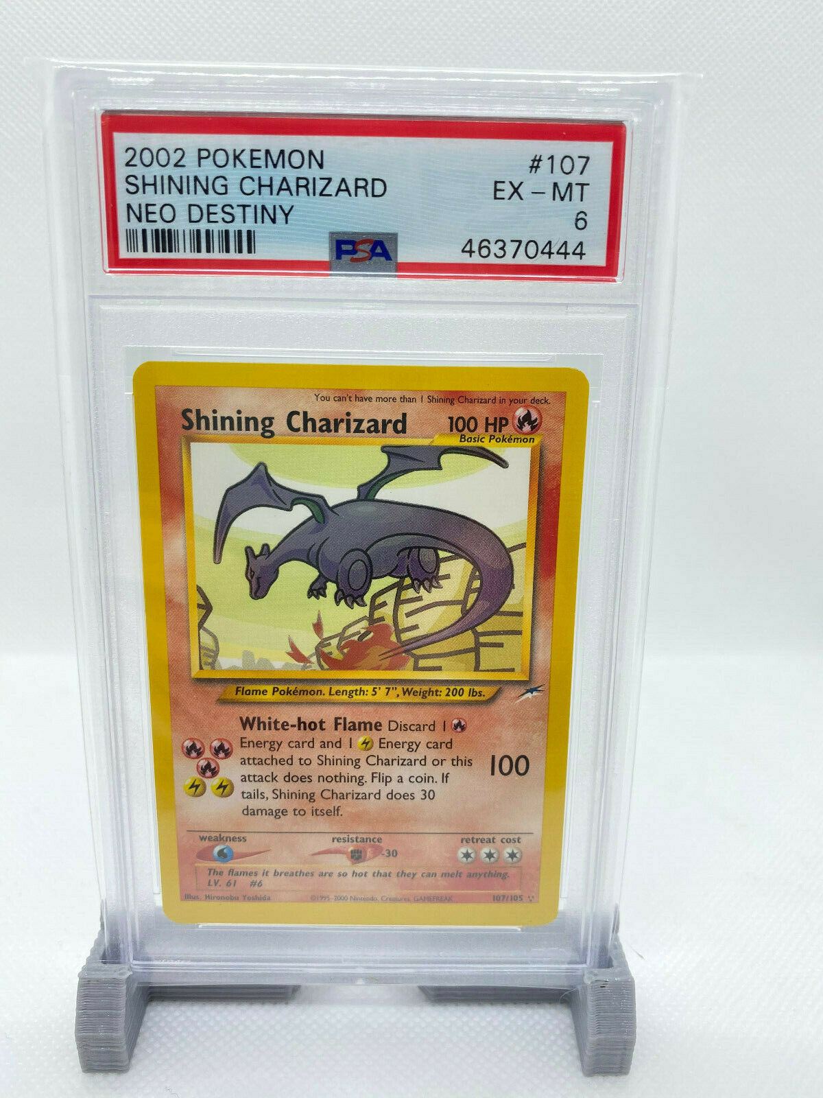 Pokemon Shining Charizard Neo Destiny PSA 6
