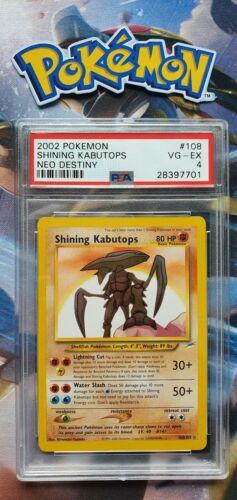 Shining Kabutops 108105 Triple Star Secret Pokemon Base Card PSA 4 Excellent
