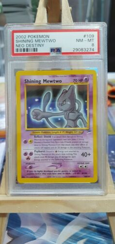 PSA 8 Shining Mewtwo  Neo Destiny 109105  Mint Pokemon Card Holo Rare