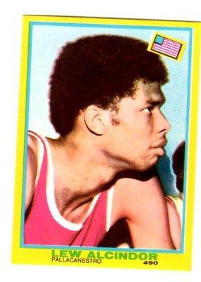 Mira Tuttosport 1968 Lew Alcindor  Abdul Jabbar card 490 excellent condition