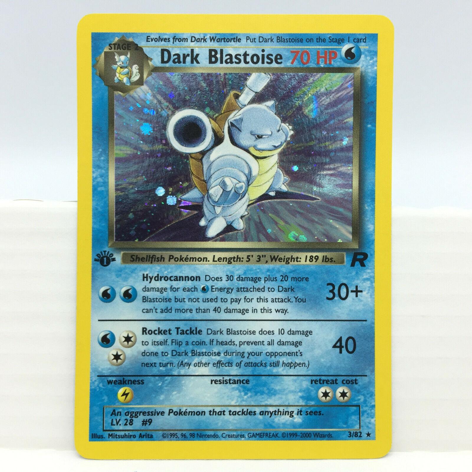 Dark Blastoise 382 1st Edition Holo Pokemon Card Team Rocket Rare NM 13