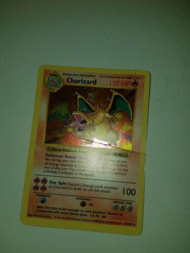 Shadowless 1st Edition Charizard  4102  Holo shasowless zard  Pokemon Card