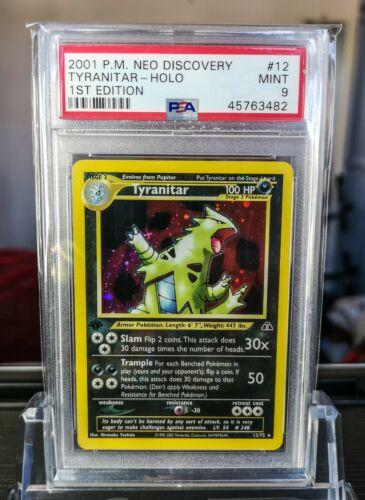 1st Edition Neo Discovery Tyranitar Holo Pokemon Card Mint PSA 9