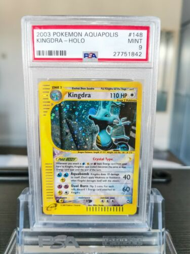 PSA 9 Kingdra Crystal Aquapolis Holo Pokemon Card 148147 2003 WOTC Mint