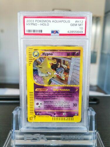 PSA 10 Hypno Holo Pokemon Card Aquapolis 2003 H1232 WOTC  Gem Mint