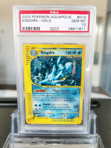 PSA 10 Kingdra Holo Aquapolis Pokemon Card H14H32 2003 WOTC  GEM MINT