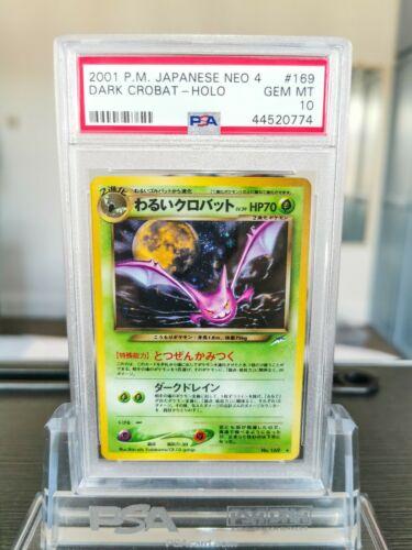 PSA 10 Dark Crobat Neo 4 Destiny Holo Japanese Pokemon Card 169  Gem Mint